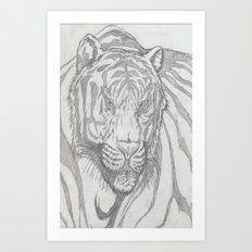 large tiger Art Print