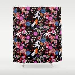 Kimono Black Shower Curtain