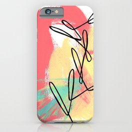 Abstract Modern Minimal - Where Is Your Passion series no.4 iPhone Case