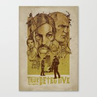 true detective Canvas Prints featuring True Detective by Albert Blanchet