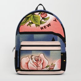New York state flower vintage greetings from Backpack