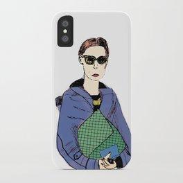 Bag Lady Blue iPhone Case