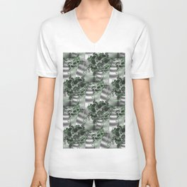 Vertical garden of fractal wall plants Unisex V-Neck