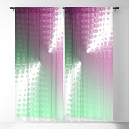 Magenta Green and White Hurricane Vortex Blackout Curtain