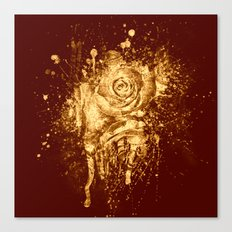 golden  rose explosion Canvas Print