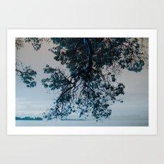 Blue Overhang Art Print