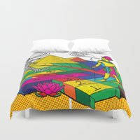 returns Duvet Covers featuring The mummy returns!  by vidhi shah