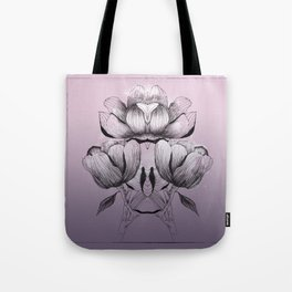 Purple bloom of Magnolia Tote Bag