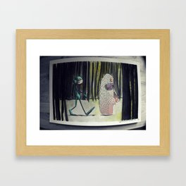 We're Not Out Of The Woods Yet Framed Art Print