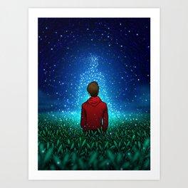 GUIDING STARS - COLORED - Visothkakvei Art Print
