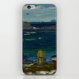 "George Wesley Bellows ""The Harbor, Monhegan Coast, Maine"" iPhone Skin"