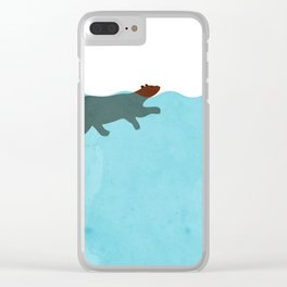 Tired Bear Clear iPhone Case