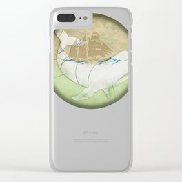 The ghost of Captain Ahab, Moby Dick Clear iPhone Case