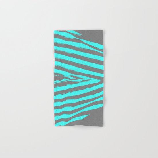 Aqua & Gray Stripes Hand & Bath Towel