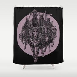 """""""The four horsemen of the apocalipse"""" Shower Curtain"""