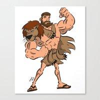 hercules Canvas Prints featuring Hercules by Judas