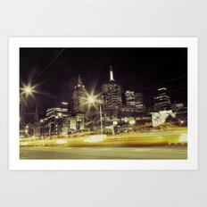 Melbourne Taxi Blur Art Print