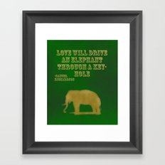 Elephant Love Framed Art Print