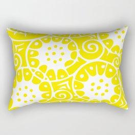 Lemon Swirl Pattern Rectangular Pillow