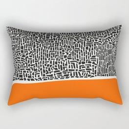 City Sunset Abstract Rectangular Pillow