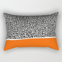 City Sunset Abstract Rectangular Pillow