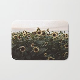 In The Sunflower Field Bath Mat
