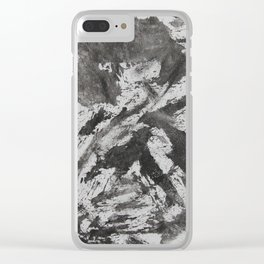 Black Ink on White Background Clear iPhone Case