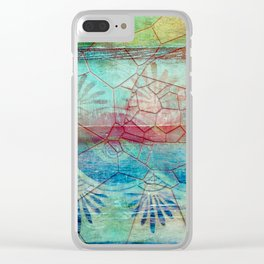 Pastel Seashell Mosaic Clear iPhone Case