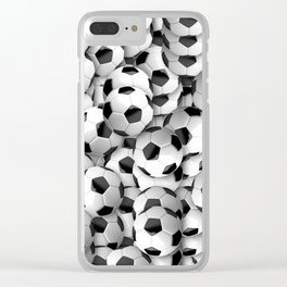 Soccer Ball Football Clear iPhone Case