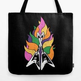 Frying V (Black) Tote Bag