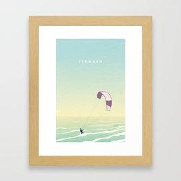 Kitesrfing Fehmarn Framed Art Print