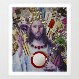 Jesus loves Vain Art Print