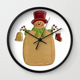 Christmas Ginger Bread Man Wall Clock