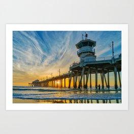 Sentinel at Sunset Art Print