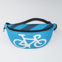 Blue Bike Fanny Pack