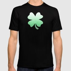 Ombre green and white swirls doodles Black MEDIUM Mens Fitted Tee
