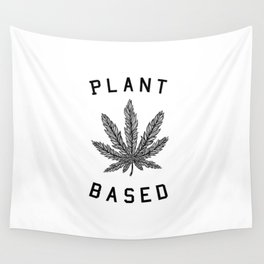 plant based marijuana leaf Wall Tapestry