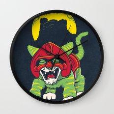 Battle Kitty's Mighty RAWR!  Wall Clock