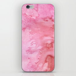 Abstract pink coral watercolor paint pattern iPhone Skin