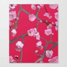 Plum blossom pattern Cherry Tomato Canvas Print