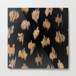 Strokes of brown paint Metal Print
