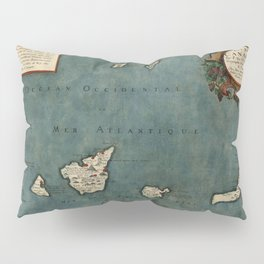 Map Of Canary Islands 1563 Pillow Sham