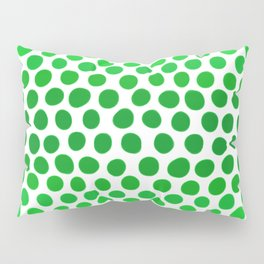 Apple Green and White Dots Ombre Pillow Sham