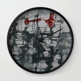 Katina Petrova's Art on Silk - winter colors Wall Clock