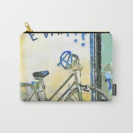 Faenza: bicycle with writing on the wall Carry-All Pouch