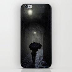 Night walk in the rain iPhone & iPod Skin