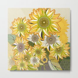 van Gogh sunflowers 2 Metal Print