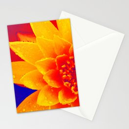 Water Lily of Primary Colors Stationery Cards