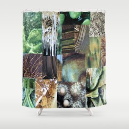 Collage - It's Not Easy Being Green Shower Curtain