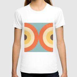 Mid Century Modern Geometrical 70s Style Retro Burnt Orange T-shirt